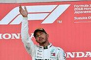 Podium - Formel 1 2018, Japan GP, Suzuka, Bild: Sutton