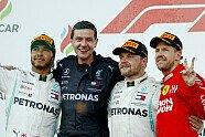 Podium - Formel 1 2019, Aserbaidschan GP, Baku, Bild: LAT Images