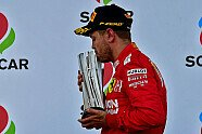 Podium - Formel 1 2019, Aserbaidschan GP, Baku, Bild: Ferrari