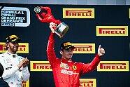 Podium - Formel 1 2019, Frankreich GP, Le Castellet, Bild: Ferrari