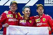 Podium - Formel 1 2019, Singapur GP, Singapur, Bild: Ferrari