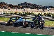 Rossi im Mercedes, Hamilton auf M1: Die besten Bilder vom Tausch - MotoGP 2019, Testfahrten, Bild: Monster
