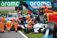Unfall Giovinazzi/Russell - Formel 1 2020, Belgien GP, Spa-Francorchamps, Bild: LAT Images
