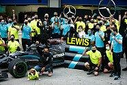 Hamilton feiert 7. Titel - Formel 1 2020, Türkei GP, Istanbul, Bild: LAT Images