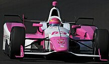 Pippa Mann crasht in Indianapolis
