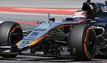 Martin Brundle nimmt Platz im Force India