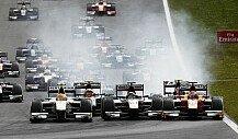 GP2-Massenunfall beim Sprintrennen von Abu Dhabi