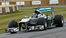 Nico Rosberg mit altem F1-Mercedes in Goodwood