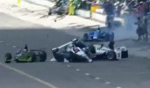 IndyCar-Crash in der Boxengasse