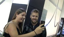 Selfie-Action mit Vettel in Melbourne