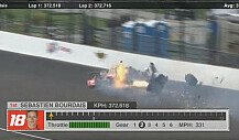 Schwerer Crash von Bourdais in Indianapolis