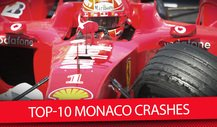 Top-10 Monaco Crashes
