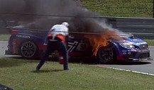 Tim Schricks Subaru wird zum Feuerball