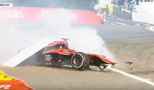 Heftiger Crash bei der Formel 2 in Spa-Francorchamps