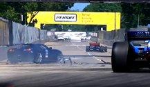 IndyCar Unfall-Video: Pace Car crasht vor dem Rennstart