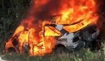 Ken Block on fire: Rallye-Auto ausgebrannt