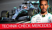 Formel-1-Autos 2019 im Technik-Check: Mercedes F1 W10