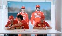 Origami-Bastelstunde mit Ferrari-Duo Vettel und Leclerc