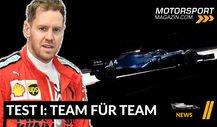 Formel 1, Team für Team: Tops & Flops der 1. Testwoche