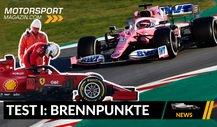 Formel 1: Lenktricks, Kopien & Co: Brennpunkte der 1. Testwoche