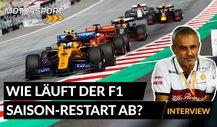 Formel 1, Interview: Wie läuft der Saison-Restart ab?