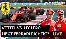 Formel 1: Vettel vs. Leclerc Setzt Ferrari aufs falsche Pferd?