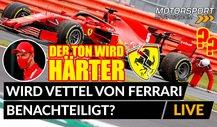 Formel 1: Wird Vettel von Ferrari benachteiligt?