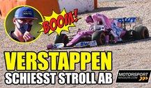 Formel 1: Verstappen schießt Stroll ab! Aber keine Strafe?!