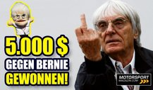 Wie Bernie Ecclestone 5.000 $ F1-Preisgeld verlor!