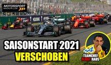Neuer Rennkalender: Formel 1-Saisonstart 2021 verschoben