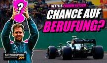 Formel 1, Vettels Chancen auf Berufung: Darf er P2 behalten?