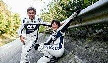 Formel 1, Monza: AlphaTauri-Fotoshooting in der Steilkurve
