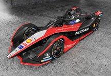 Formel E: Formel E: Nissan präsentiert Rennauto im Kimono-Design