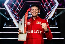 eSports: Formel 1, eSports: Ferrari-Junior Tonizza gewinnt Titel 2019