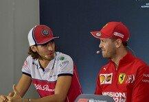 Formel 1: Formel 1, Giovinazzi wollte Vettel-Ferrari: Falscher Zeitpunkt