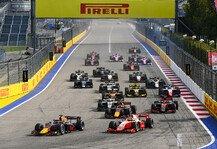Formel 2: Formel 2 & Formel 3 Sotschi: Regen erzwingt Absagen