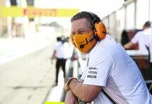 Formel 1: Zak Brown wünscht sich mehr Freiheiten bei Fahrzeugentwicklung
