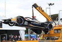 Formel E: Unfälle beim Formel-E-Rennen in Rom: Chaos mit Ansage