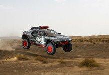 Dakar Rallye: Rallye Dakar: Marokko-Test verlangt Audi RS Q e-tron viel ab