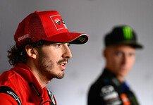 MotoGP: WM-Kampf: Bagnaia verspricht volles Risiko gegen Quartararo