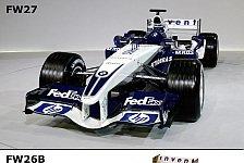 Formel 1 - Bilderserie: Der FW26(B) & FW27 im Vergleich