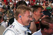 DTM - Mika H�kkinen genie�t den Luxus der DTM
