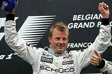 Formel 1 - Belgien GP: R�ikk�nen wahrt seine letzte Chance