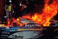 Formel 1 - Cooler Ire: Video - Feuerunfall Eddie Irvine 1995