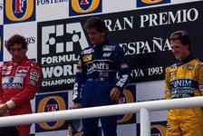 Formel 1 heute vor 27 Jahren: Prost-Senna-Schumi auf dem Podium