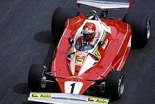 Formel 1 - Auch Marko, Berger und Co. in historischen Boliden: �sterreich: Lauda dreht Runden im 76er Ferrari