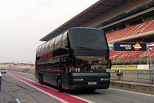 Mehr Motorsport - Harte K�mpfe und Lackaustausch: Video - Bus-Rennen mit Tourenwagenfahrern