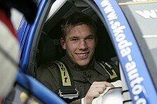 WRC - Lukas Podolski sammelte Rallye-Erfahrung im Skoda