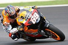 MotoGP - Rennen MotoGP: Rossi stürzt, Titel für Hayden