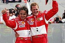 Formel 1 - Er sieht normal aus: Massa: Schumacher zeigt Reaktionen